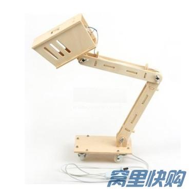 diy拼装木质创意台灯(不可调光)