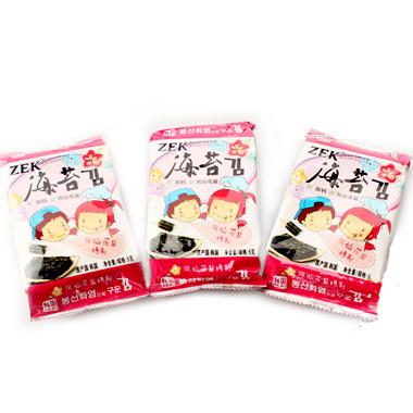 【韩国】zek低盐加钙海苔(5g*3)/包 5586