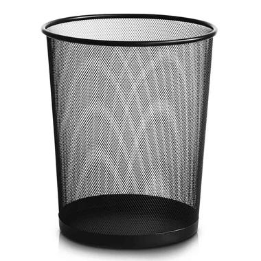 得力金属网状废纸篓 垃圾桶